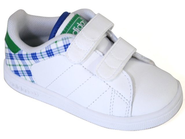Tênis Masc Infantil Adidas Stan Smith G13271 Branco/azul/verde
