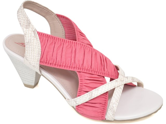 Sandália Feminina Bebêcê481330 Marfim/rosa