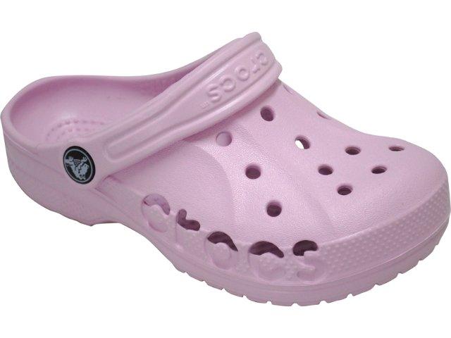Fem Infantil Crocs Baya Kids Rosa