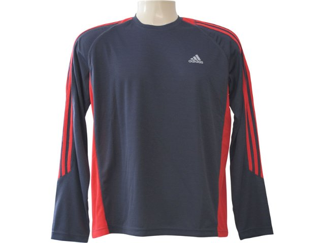 Camiseta Masculina Adidas E89602 Chumbo/vermelho