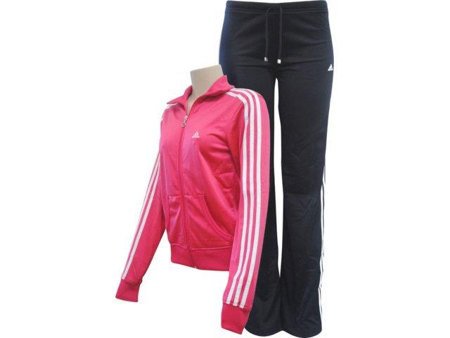 Abrigo Feminino Adidas V35516 Coral/preto