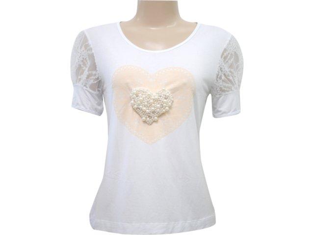 T-shirt Feminino Dona Florinda 37013 Branco