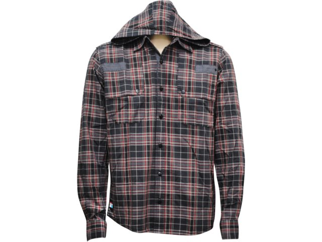 Camisa Masculina dj 01011097 Preto/vermelho