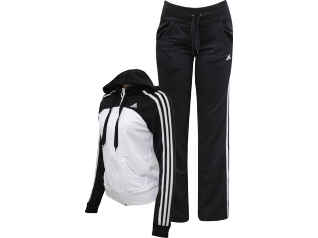 Abrigo Feminino Adidas P90509 Branco/preto