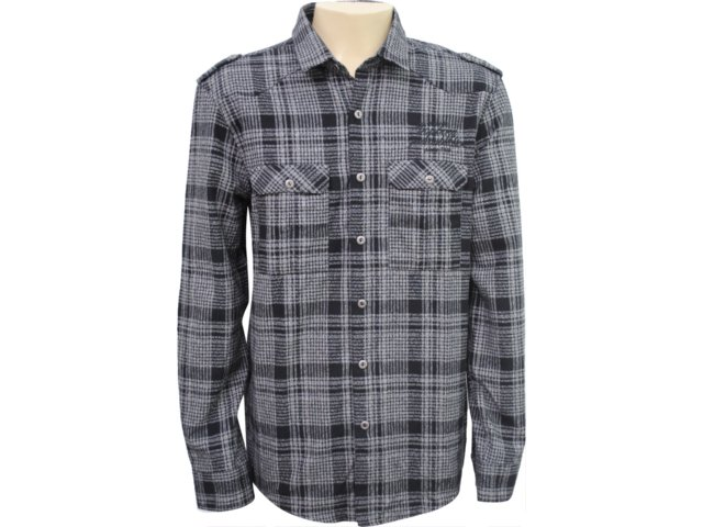 Camisa Masculina Dopping 011961004 Preto
