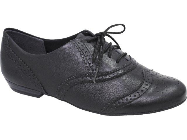 Sapato Feminino Ramarim Oxford 119101 Preto
