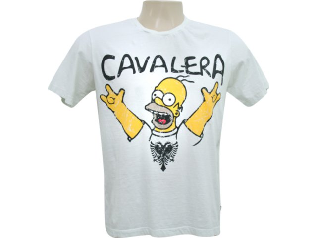 Camiseta Masculina Cavalera Clothing 01.01.5853 Off White