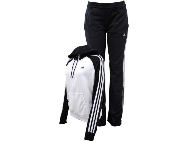 Abrigo Feminino Adidas V35509 Branco/preto