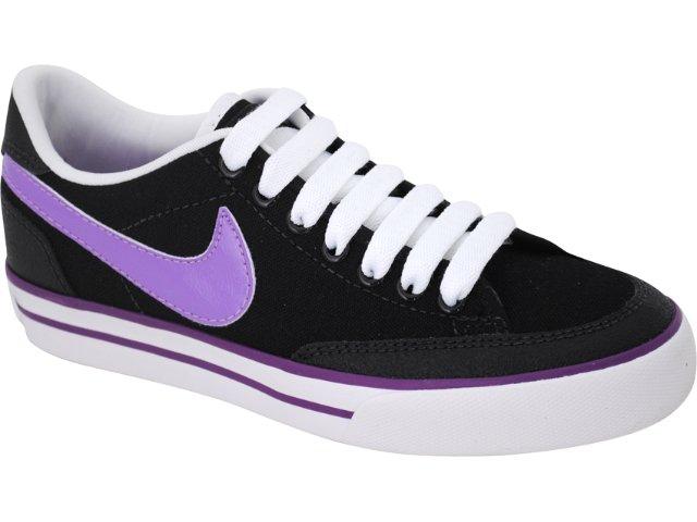 Tênis Feminino Nike 431908-003 Navaro Preto/lilas