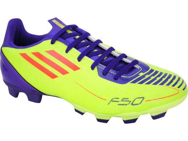 Chuteira Masculina Adidas f5 Trx G29107 Verde Limão/roxo