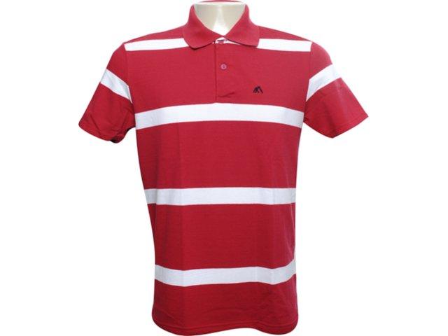 Camiseta Masculina Mineral 99463 Listrado Vermelho