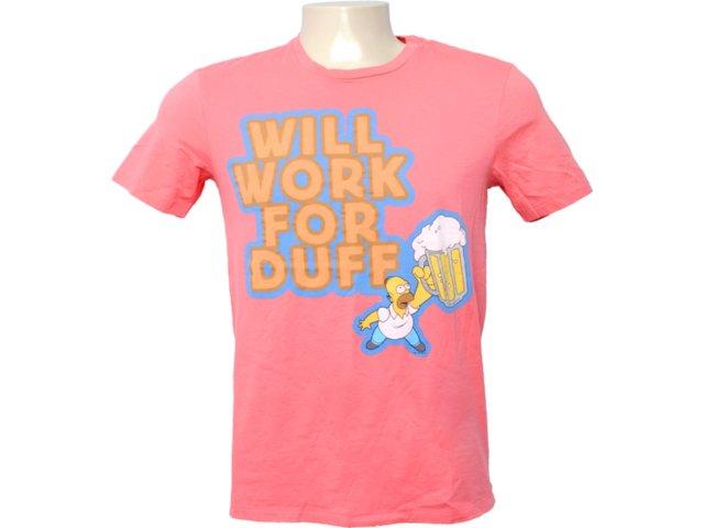 Camiseta Masculina Cavalera Clothing 01.01.6255 Rosa