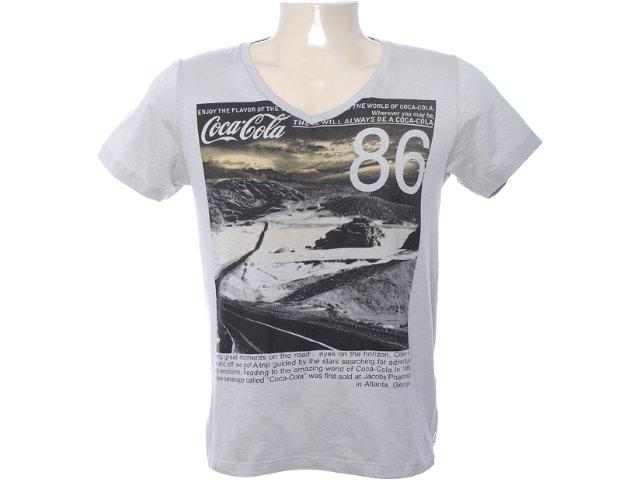 Camiseta Masculina Coca-cola Shoes 353202475 Cinza