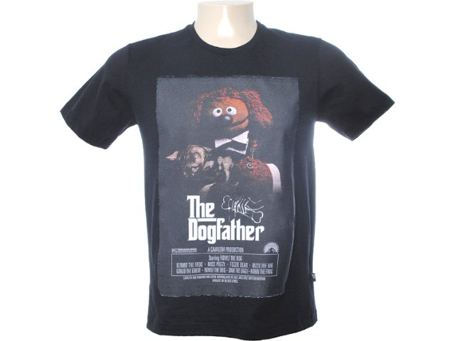 Camiseta Masculina Cavalera Clothing 01.01.6566 Preto