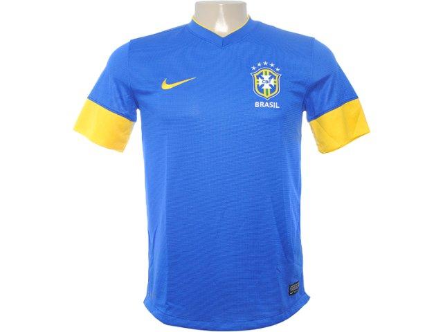 Camiseta Masculina Nike 447936-493 Azul/amarelo
