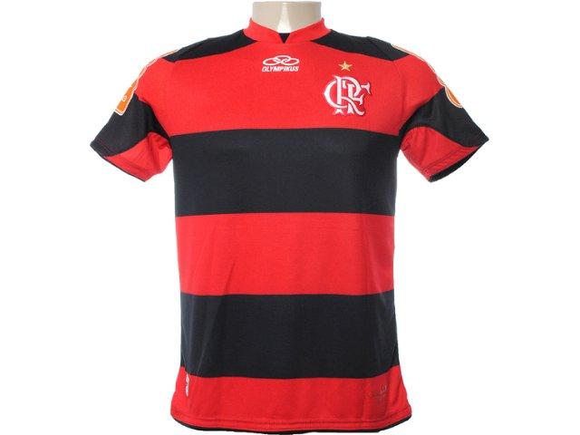 Camisa Masculina Olympikus Fl26026v Preto/vermelho