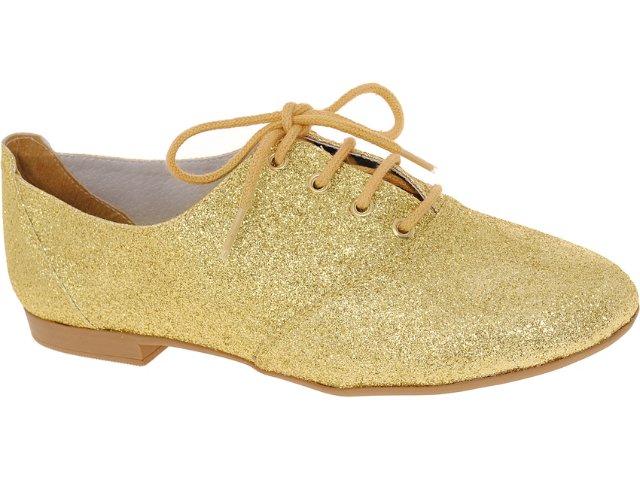 Sapato Feminino Brenners 3001 Gliter Ouro