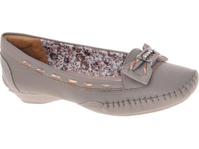 Sapato Feminino d Moon 10632 Taupe