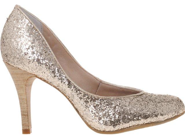 Sapato Feminino Bebêcê834004 Ouro