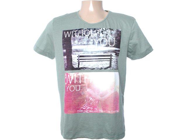 Camiseta Masculina Coca-cola Clothing 353202803 Musgo