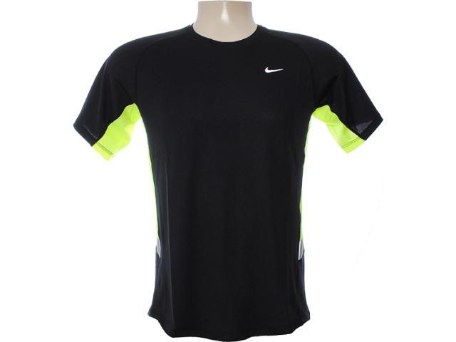 Camiseta Masculina Nike 480750-011 Preto/limão