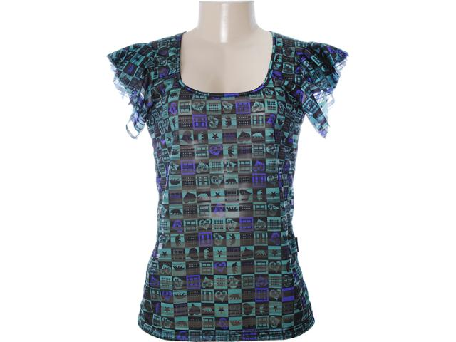 Blusa Feminina Dopping 015652553 Preto/verde