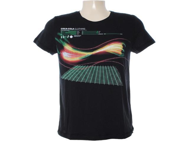 Camiseta Masculina Coca-cola Clothing 353203095 Preto