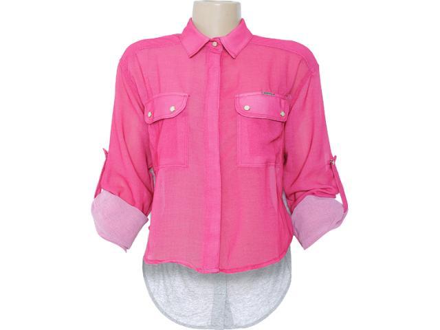 Camisa Feminina Dopping 011802505 Rosa