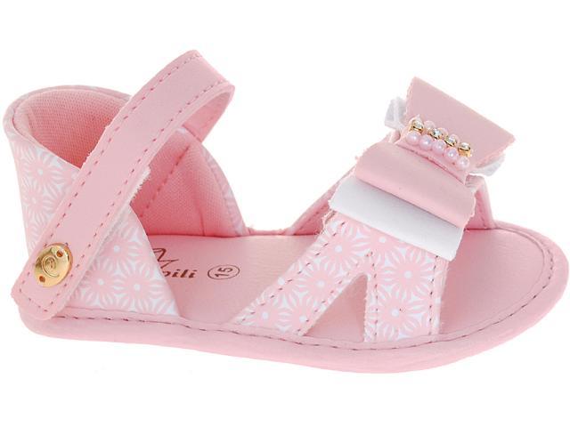 Sandália Fem Infantil Pampili 260.015.6832 Branco/rosa