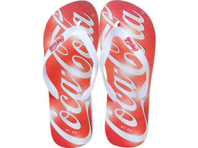 Chinelo Masculino Coca-cola Shoes Cc0225 Branco