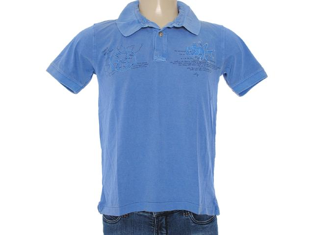 Camisa Masculina Dzarm 6byn Au610 Azul Bic