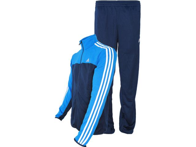 Abrigo Masculino Adidas Z32552 ts Iconic kn  Marinho/azul