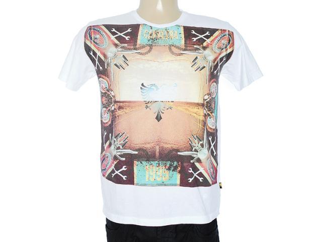 Camiseta Masculina Cavalera Clothing 01.01.7069 Branco