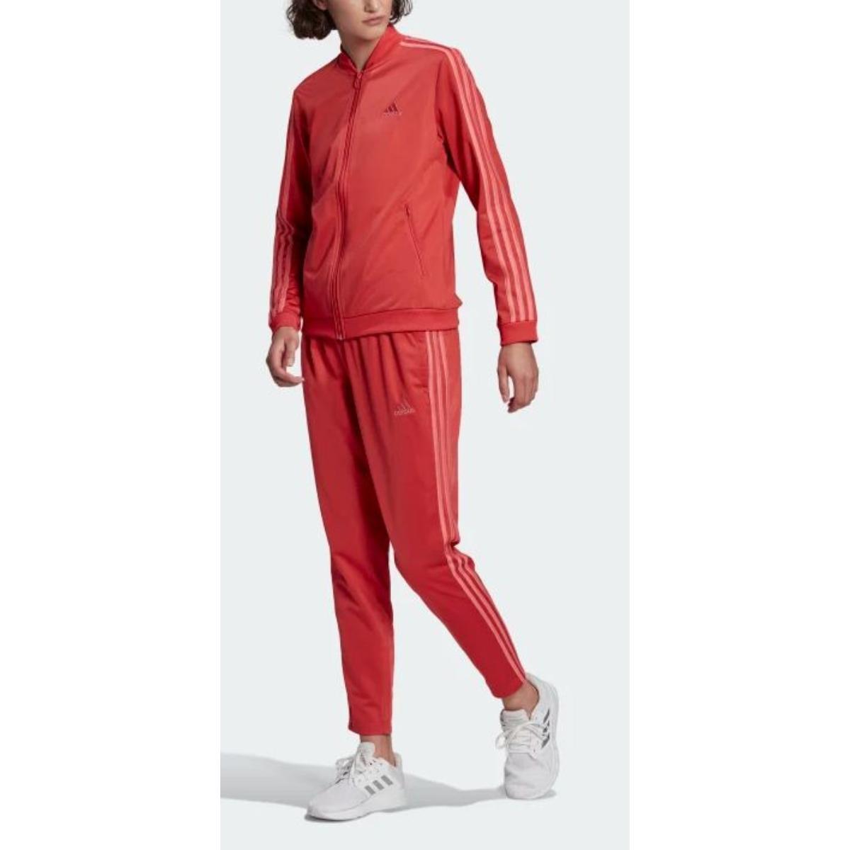 Abrigo Feminino Adidas Gm5581 w 3s Vermelho/rosa