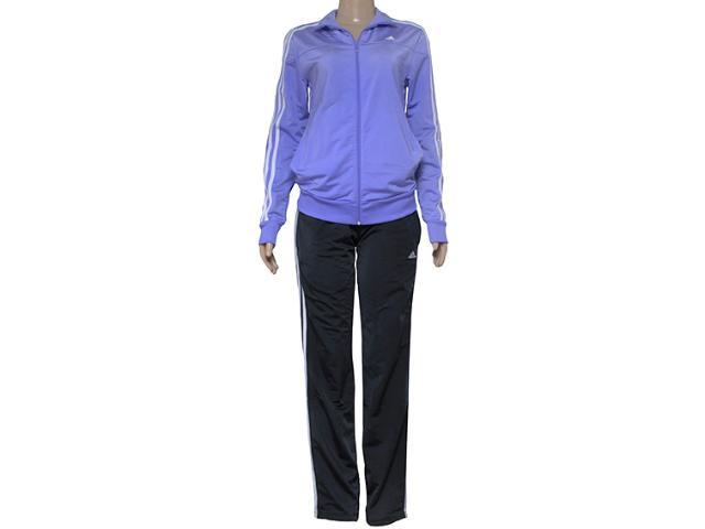 Abrigo Feminino Adidas S23595 Knit w Lilas/preto