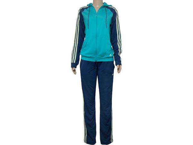Abrigo Feminino Adidas Aj5969 Young kn Verde/marinho