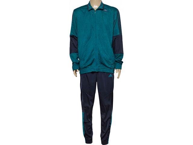 Abrigo Masculino Adidas Ak0381 Iconic Knit m Verde/grafite