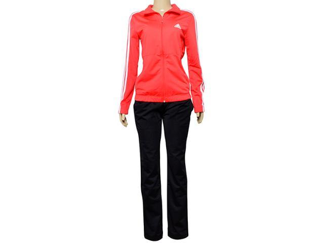 Abrigo Feminino Adidas Ce6791 Back2bas 3s Coral/preto