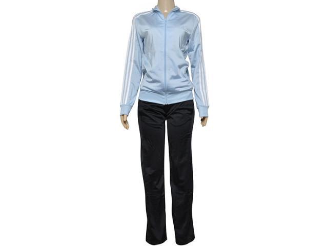 Abrigo Feminino Adidas Bp8271 w kn ts 1 Azul Claro/preto