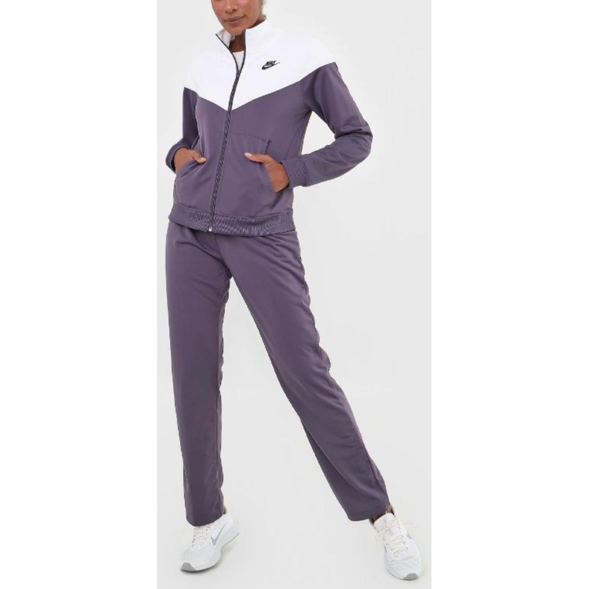 Abrigo Feminino Nike Bv4958-573 Trk Suit pk Roxo/branco