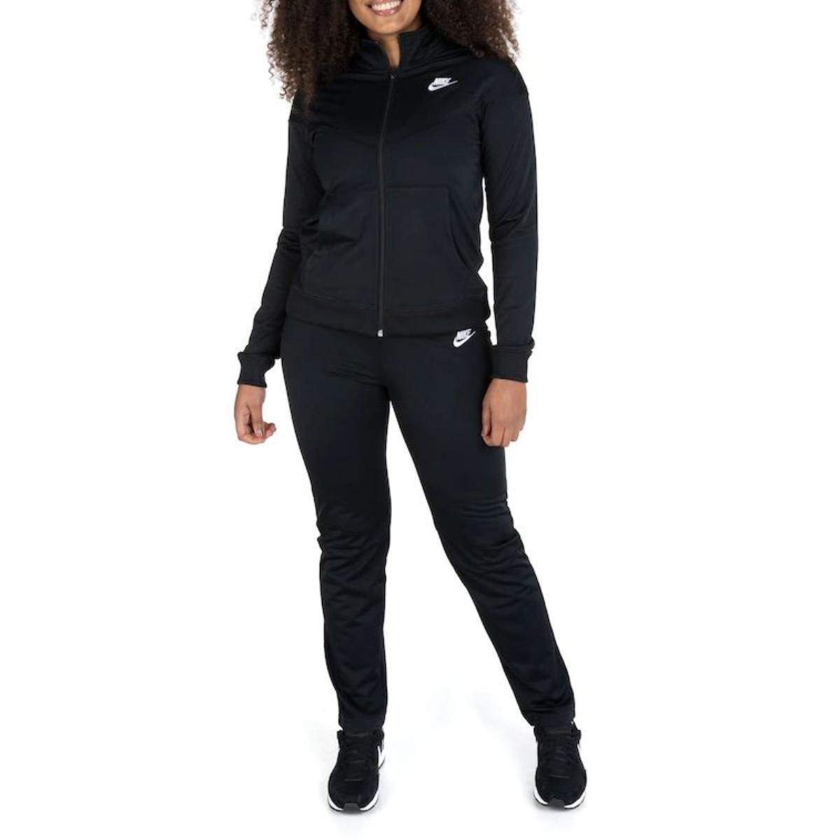 Abrigo Feminino Nike Bv4958-011  Trk Suit pk Preto