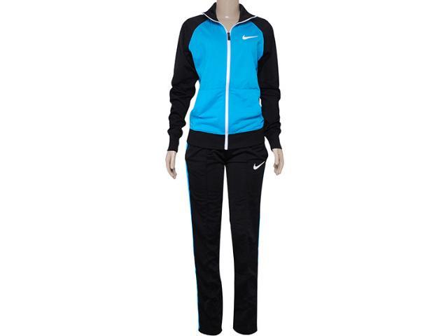 Abrigo Feminino Nike 639138-407 Polywarp Raglan W-up Were  Azul/preto