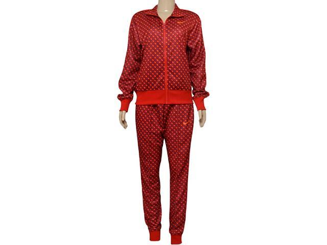 Abrigo Feminino Nike 725761-677 Printed Cuffed  Vermelho/laranja