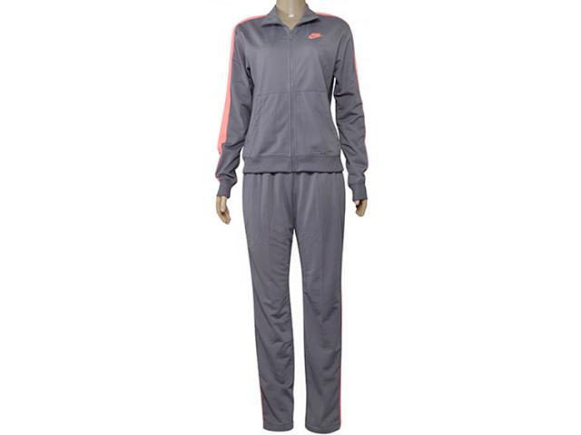 Abrigo Feminino Nike 830345-036 Sportswear Cinza/laranja Neon