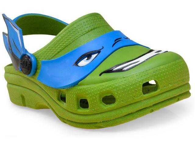 Babuche Masc Infantil Plugt 38.052.007 Tartaruga Ninja Verde