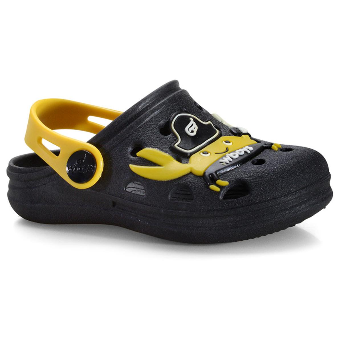 Babuche Masc Infantil World Colors 126.014 Preto/amarelo