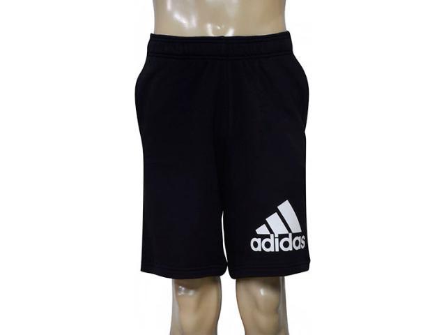 Bermuda Masculina Adidas Br9224 Knit Ft, Preto