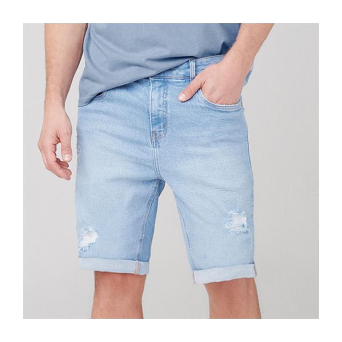 Bermuda Masculina Dzarm Zc4v 1bsn Jeans Claro