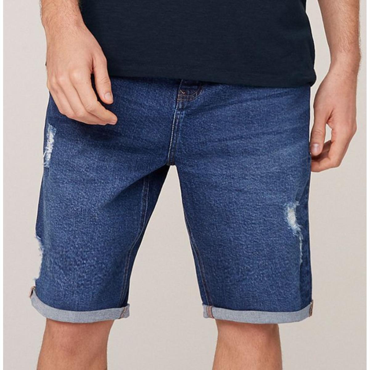 Bermuda Masculina Dzarm Zc4v 1csn Jeans Escuro
