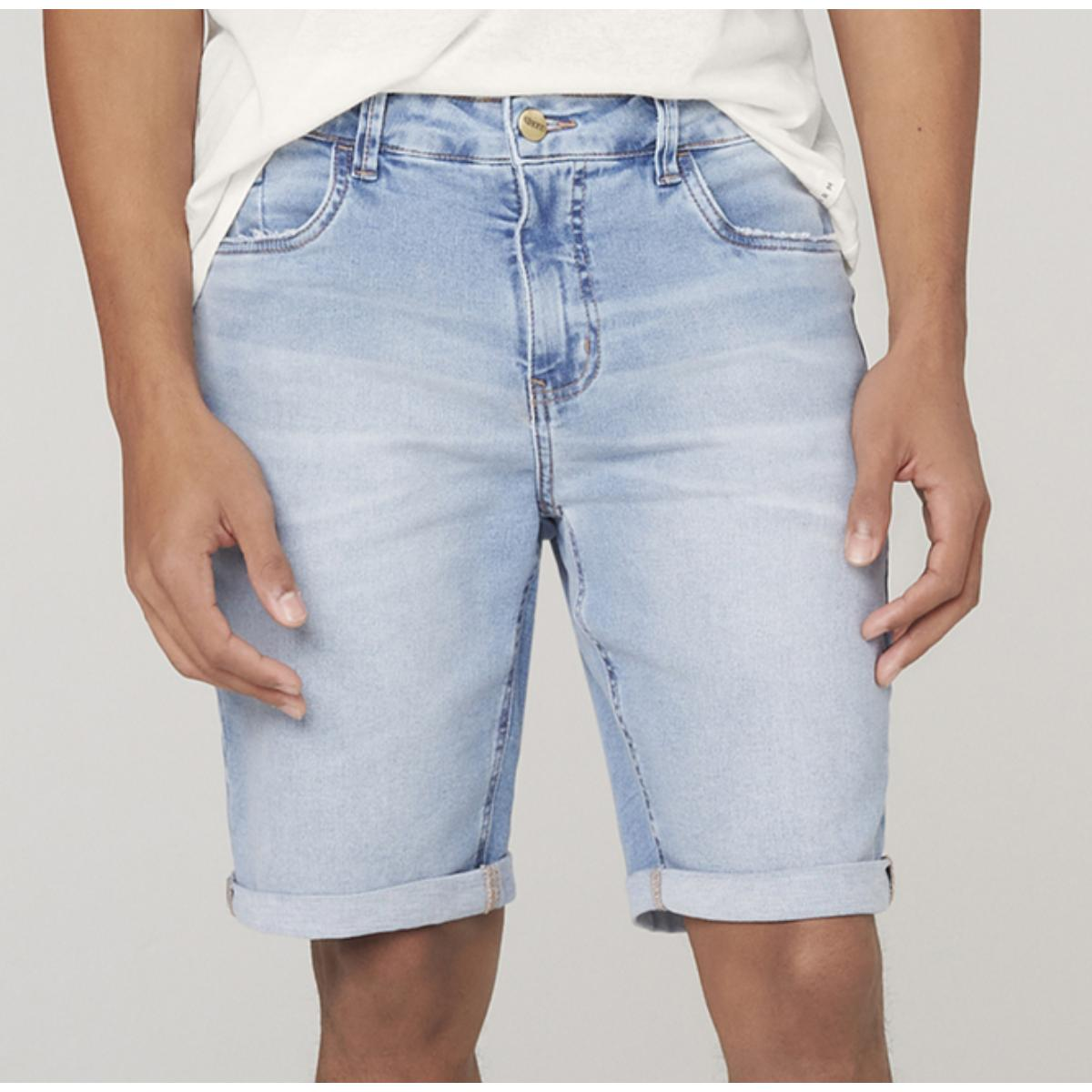 Bermuda Masculina Dzarm Zc4u 1bsn  Jeans Claro